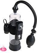 Вакуумная помпа для полового члена power pump с вибрацией черная